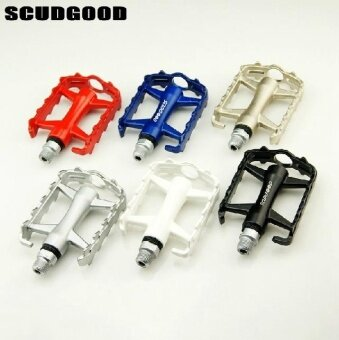 SCUDGOOD Double Bearing Aluminum Alloy Bicycle Bike Pedals Multicolor - intl
