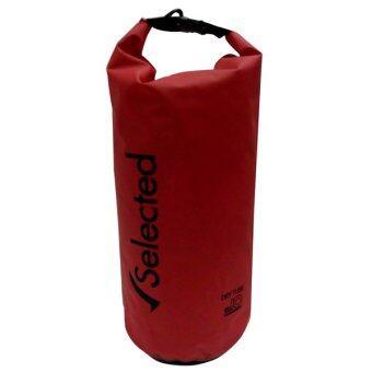 Selected กระเป๋ากันน้ำ ถุงทะเล ถุงกันน้ำ Waterproof Bag 10L ( RED )