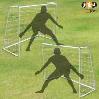 ประเทศไทย Shabby chic โกลฟุตบอล ประตูฟุตบอล เหล็กสีขาวแพคคู่ขนาด 1.8m Football goal(1.8m)