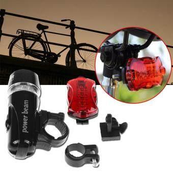 2561 Sinlin ชุดไฟจักรยาน หน้า/หลัง พร้อมอุปกรณ์ Bike Light Head and Tail LED Set รุ่น BLS205-DF (Black)