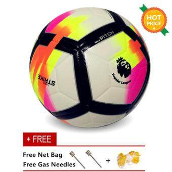 Harga Size 5 Premier League Football PU Anti-slip Granules Soccer Adult Sport Ball - intl