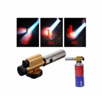 SPACE ATOM - หัวพ่นไฟฟู่ หัวเป่าแก๊สขนาดเล็ก มีไกปืนจุดไฟในตัวใช้ย่างอาหาร เผาหน้าซูชิ หลอมน้ำตาล รุ่น M-60 นำเข้าจากญี่ปุ่น
