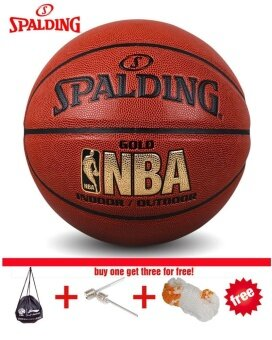 Spalding (74-606Y) NBA Endorsed Grip Control Indoor/OutdoorCompetition Official Size 7 Basketball PU material basketball WithNet+ bag+ Pin - intl