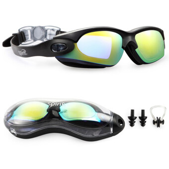Spirit Clear Swimming Goggles Anti Fog / Scratch UV ProtectionLeakproof Triathlon Swim Goggles with Free Protection Case forAdult Men Women Youth Child Kids Beautiful black (image 0)