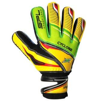SPORTLAND ถุงมือโกล์ว ฟุตบอล Goal keeper Football Glove Cyclone Fingersave (GREEN PALM )
