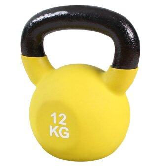SPORTLAND ดัมเบล Neoprene Dumbbell Kettlebel 12 kg. (Yellow)