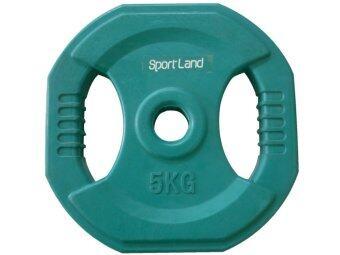 SPORTLAND แผ่นน้ำหนัก หุ้มยางสี บาร์เบล ดัมเบล (SL) 5 Kg (28mm.)