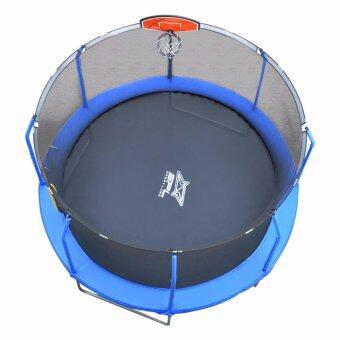 ราคา SPORTLAND แทรมโพลีน พร้อม บันได Trampoline Net+Ladder 12FT.Slam Ball (144 นิ้ว)