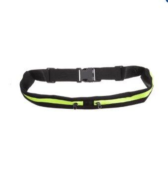 Harga Sports Fanny Pack Belly Waist Bumbag Fitness Running JoggingCycling Belt Pouch(Green)