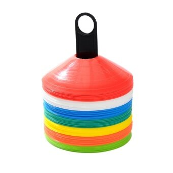 Sports Outdoors Training Equipment Space Marker Cone Discs FootballSoccer Rugby Fitness Training Colorful 10Pcs - intl