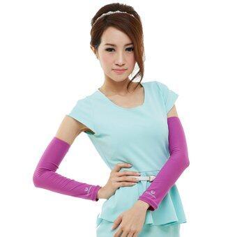ประเทศไทย SunLadyปลอกแขนกันUV (Orchid pink)