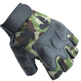 ราคา SUPER SPORT ถุงมือ ฟิตเนส ยกน้ำหนัก เทรนนิ่ง Sports Weight Lifting Half Finger Gloves -Green