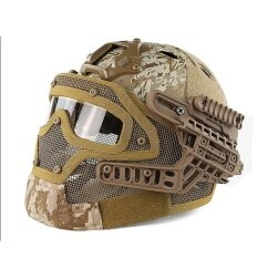 Tactical Helmet G4 System Overall Protection Face Mask&Goggles Airsoft Helmets - intl
