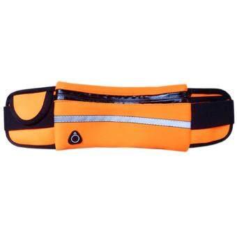 TD Mobile-กระเป๋าเก็บของมีซิปแบบคาดเอวสำหรับการออกกำลังกาย สีส้ม 1ชิ้น