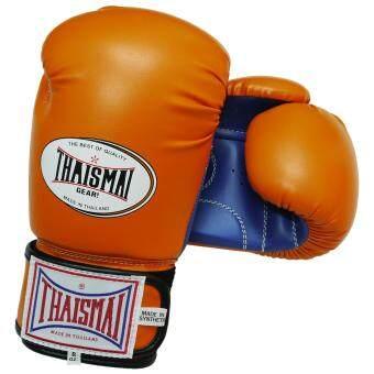 ราคา Thaismai - Boxing Gloves BG-124 PU Orange / Blue นวม ชกมวย รุ่น BG-124 สี ส้ม / น้ำเงิน