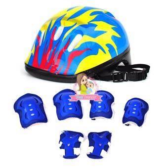 Thaitrendy อุปกรณ์ป้องกันการกระแทกสำหรับเด็ก หมวกจักรยาน สนับเข่ามือและข้อศอก