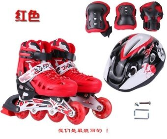 The full set of flash skates inline skate skates skating shoes -intl