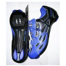 TieBao รองเท้าปั่นจักรยาน เสือหมอบ/เสือภูเขา รุ่น TB36-B955B #37 สีน้ำเงิน