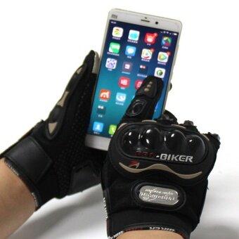 ซื้อ/ขาย ถุงมือ มอเตอร์ไซร์ รุ่นทัชสกรีน (Touched Screen Gloves) สะดวกทั้งตอนขี่ และ ตอนเล่นโทรศัพท์ ไม่ต้องถอดถุงมือมารับโทรศัพท์ - สีดำ/Black จำนวน 1 คู่