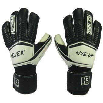 2561 ถุงมือผู้รักษาประตู ถุงมือประตูนิ้วเหลี่ยม Training H3 Sport มี Finger Save ดำขาว เบอร์ 7