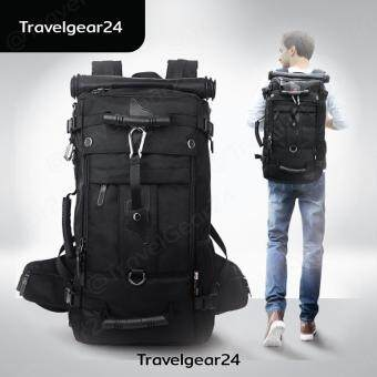 TravelGear24 กระเป๋าเป้ กระเป๋าสะพาย กระเป๋าเดินทางสะพาย Backpack Bag 40L (Black/สีดำ)
