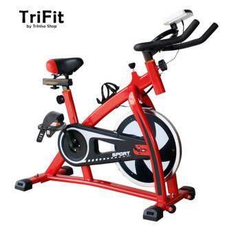 TriFitness S300 จักรยานออกกำลังกาย In Door Lightweight Exercise Fitness Bike Gym Bicycle (สีแดง)