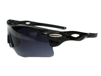 แว่นตาจักรยาน กันแสง UV 400 (สีเทา/ดำ) ฟรี ถุงผ้าใส่เเว่น (image 1)