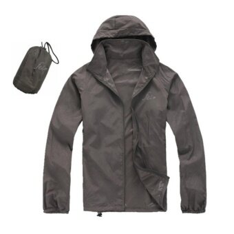 เสื้อผ้าร่มใช้กิจกรรมกลางแจ้งกัน UV ยี่ห้อFEI สีเทาเข้ม UPF40