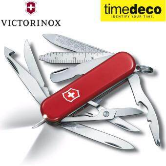 Victorinox Swiss Army มีดพับอเนกประสงค์ ลิขสิทธิ์แท้ KNIVES MIDNITE MINICHAMP SAK0.6386 SMALL POCKET KNIFE 16 FUNCTIONS AND LED LIGHT-RED
