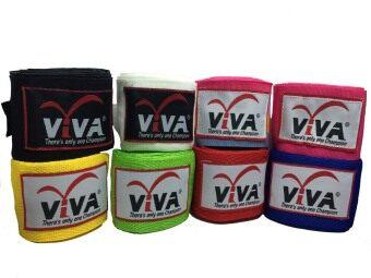 2561 VIVA ผ้าพันมือนักมวย ยาว2.5 เมตร (สีชมพู) คู่