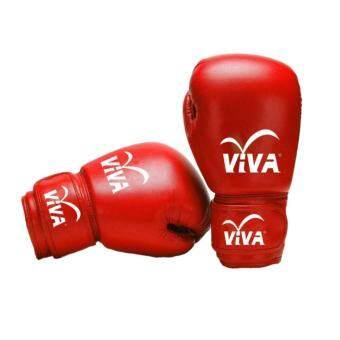 ประเทศไทย Viva นวมมวยไทย / สากล หนัง Micro Fiber (red) 8oz