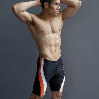 WANAKA กางเกงว่ายน้ำ CHM452 (Black/Orange) - 2