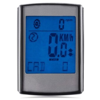 Water Resistant Wireless Cadence Heart Rate Speed 3 in 1 Cycle Computer Speedometer with LCD Backlight - intl