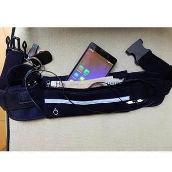 Waterproof Sport Running Beltกระเป๋ากีฬาแบบคาดเอวใส่โทรศัพท์มือถือกันน้ำได้ (สีดำ) ฟรี นาฬิกาSport 1 ชิ้น - 3