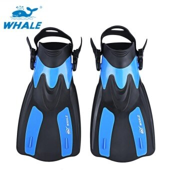 WHALE Oceanic Swimming Diving Snorkeling Adjustable Submersible Fins Trek (Blue) - intl