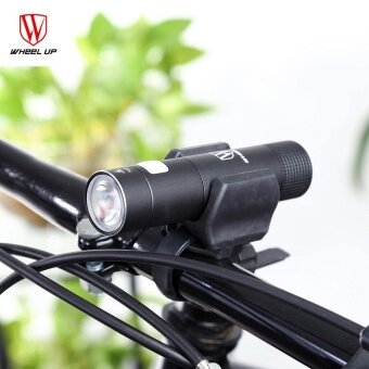 WHEELUP Cycling Portable Night Riding Flashlight Front HandlebarLight Torch (Black) - intl