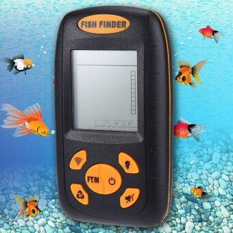 Wireless Fish Finder Portable Sonar Echo Sounder (Black) - intl