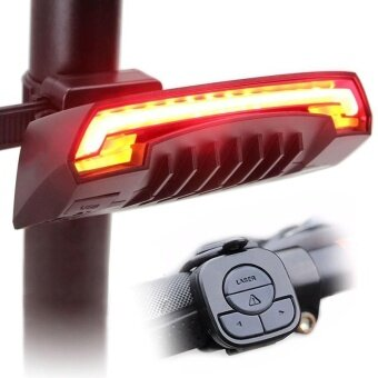 Wireless Remote Laser USB Bicycle Bike Indicator Signal LED RearTail Light - intl