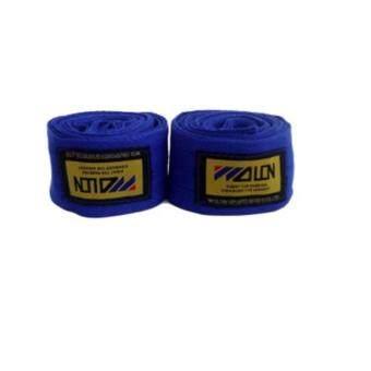 ซื้อ/ขาย WOLON 2.5M ผ้าพันมือนักมวยสีน้ำเงิน ผ้าพันมือต่อยมวย ผ้าพันมือชกมวย ผ้าพันมือมวยไทย Blue Professional Hand Wraps Boxing Tape (ความยาว 2.5 เมตร)