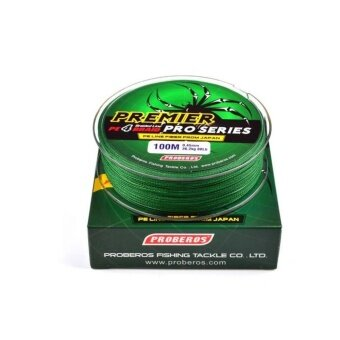 WWang 100M 1.5# 0.2mm Super Strong PE Braided Fishing Line20LBGreen - intl