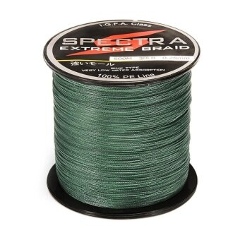 WWang 500M Length 0.32mm Diameter 100%PE Plastic Braided FishingLine 40LB Test Moss - intl