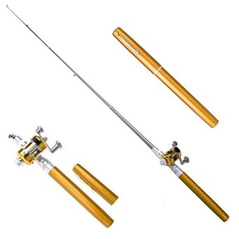 yazhang Pawaca Fishing Rod Pen 40inch Mini Portable Pocket Aluminum Alloy Fishing Rod Rack Pen and