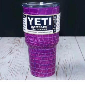 ราคา แก้วเก็บ ความเย็น YETI 30 OZ (ลายกระเบื้อง สีม่วงD)