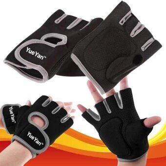 ราคา YUEYAN ถุงมือฟิตเนส ถุงมือออกกำลังกาย Fitness Glove Weight Lifting Gloves Gray ( Int:M)