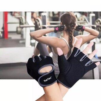 YUEYAN ถุงมือฟิตเนส ถุงมือออกกำลังกาย Fitness Glove Weight Lifting Gloves Gray ( Int:S)