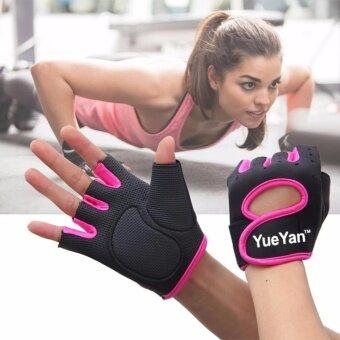 ราคา YUEYAN ถุงมือฟิตเนส ถุงมือออกกำลังกาย Fitness Glove Weight Lifting Gloves Pink ( Int:L)
