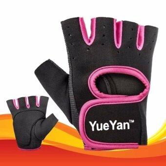 ราคา YUEYAN ถุงมือฟิตเนส ถุงมือออกกำลังกาย Fitness Glove Weight Lifting Gloves Pink ( Int:M)