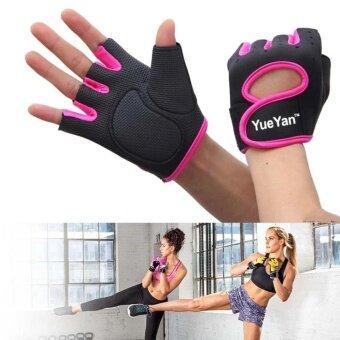 ประเทศไทย YUEYAN ถุงมือฟิตเนส ถุงมือออกกำลังกาย Fitness Glove Weight Lifting Gloves Pink ( Int:M)