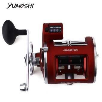 YUMOSHI 12 Ball Bearings High Speed Fishing Reel With ElectricDepth Counting Multiplier(Left) - intl