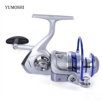 YUMOSHI 12BB Half Metal Spinning Reel Fishing Tackle with Foldable Handle(AL 2000) - intl
